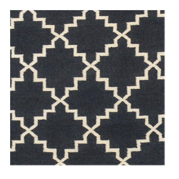 Vlněný koberec Eugenie Dark Grey, 240x155 cm