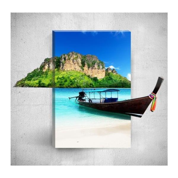 Tropical Boat 3D fali kép, 40 x 60 cm - Mosticx