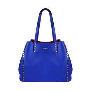 Modrá kožená kabelka Lampoo Plango