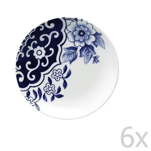 Sada 6 porcelánových dezertních talířů Willow Love Story
