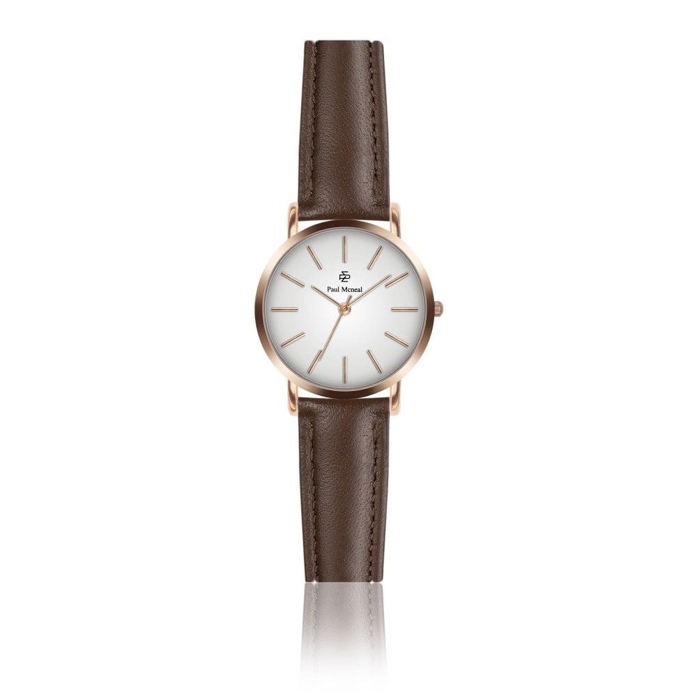 Dámské hodinky s hnědým koženým řemínkem Paul McNeal Vera, ⌀ 2,8 cm