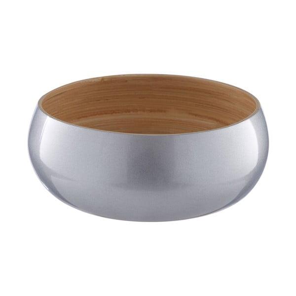 Miska bambusowa w srebrnej barwie Premier Housewares, ⌀ 20 cm