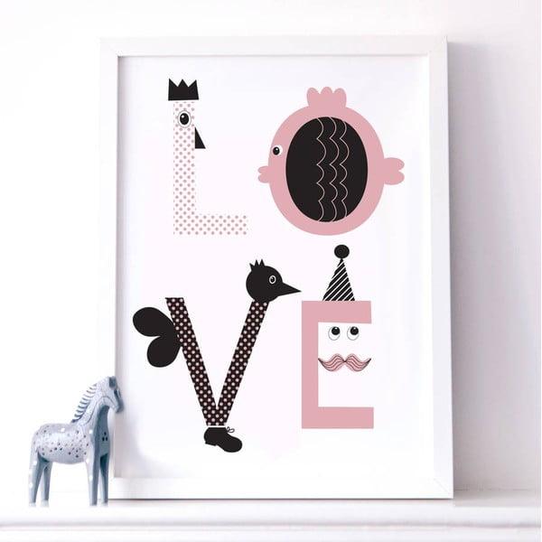 Plakát Karin Åkesson Design Love Pink, 30x40cm