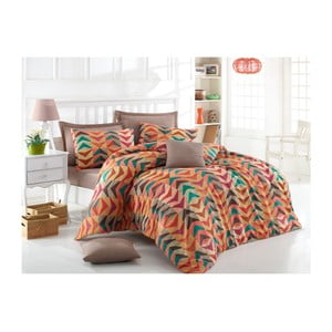 Lenjerie de pat cu cearșaf Boomrange, 200 x 220 cm