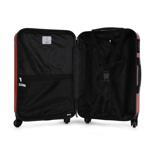 Červený cestovní kufr na kolečkách VERTIGO Valise Grand Format Duro, 36l