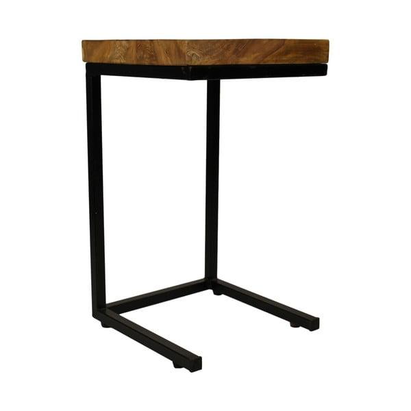 Příruční stolek z kovu a teakového dřeva HSM collection