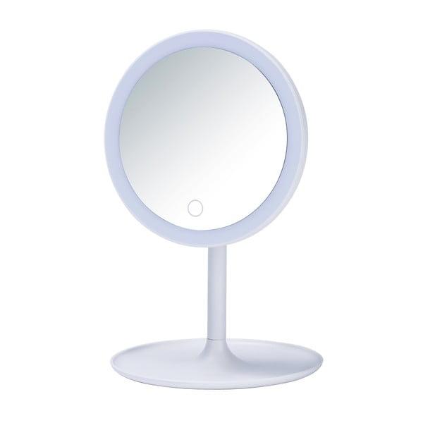 Bílé kosmetické zrcadlo s LED podsvícením Wenko Turro