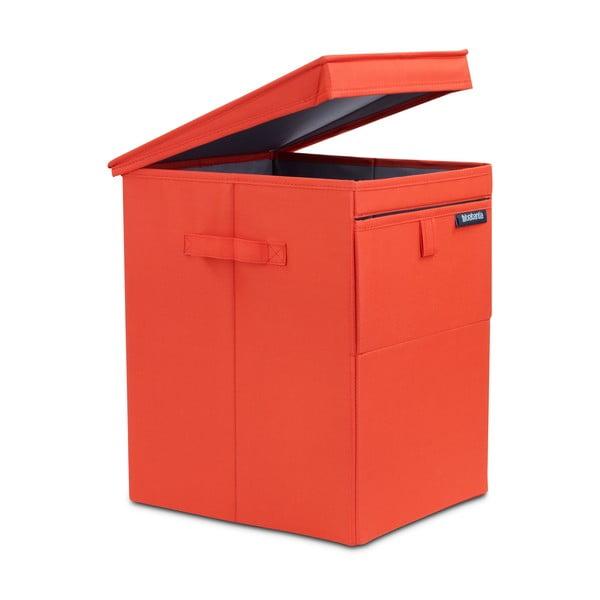Červený stohovatelný box na prádlo Brabantia Hit Red, 35l