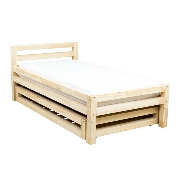 Jednolůžková lakovaná postel z smrkového dřeva Benlemi Single,90x180cm
