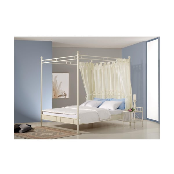 Kovová postel Venedig 180x200 cm, bílá