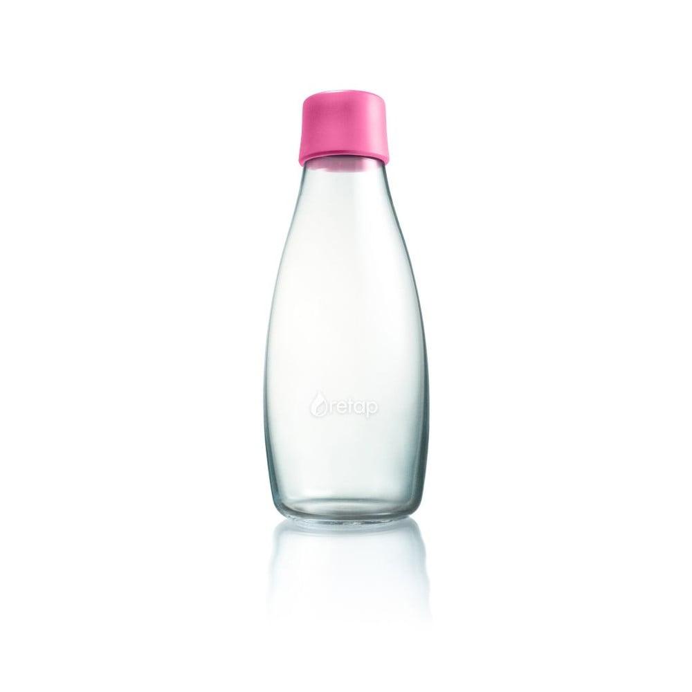 Světle růžová skleněná lahev ReTap s doživotní zárukou, 500ml