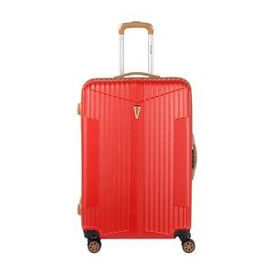 Červený kufr na kolečkách Murano Solange