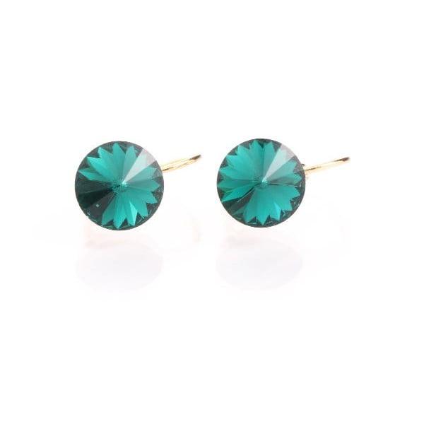 Zelené náušnice se Swarovski krystaly Yasmine Longie