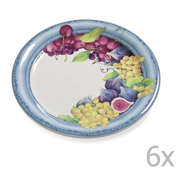 Sada 6 talířů Blue Garden, 26.5 cm