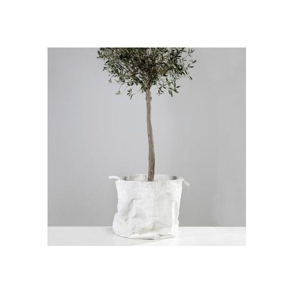 Bílý plátěný košík, 60x60 cm
