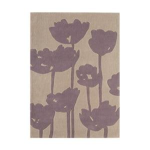 Covor Asiatic Carpets Harlequin Florist, 170 x 120 cm, gri deschis