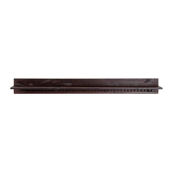 Candice sötétbarna színű polc fenyőfából, 130 cm - Støraa