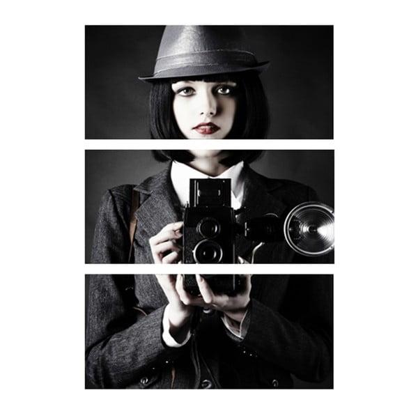 3dílný obraz Fotografka
