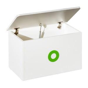 Bílý box na hračky se zelenými detaily KICOTI Circle