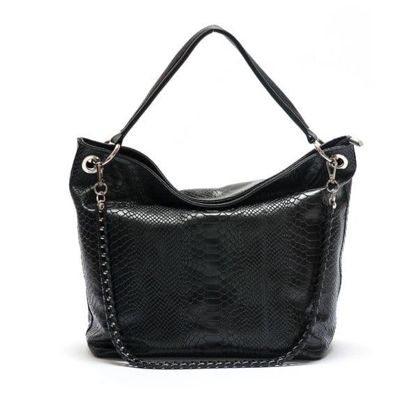 Kožená kabelka Mangotti 8034, černá