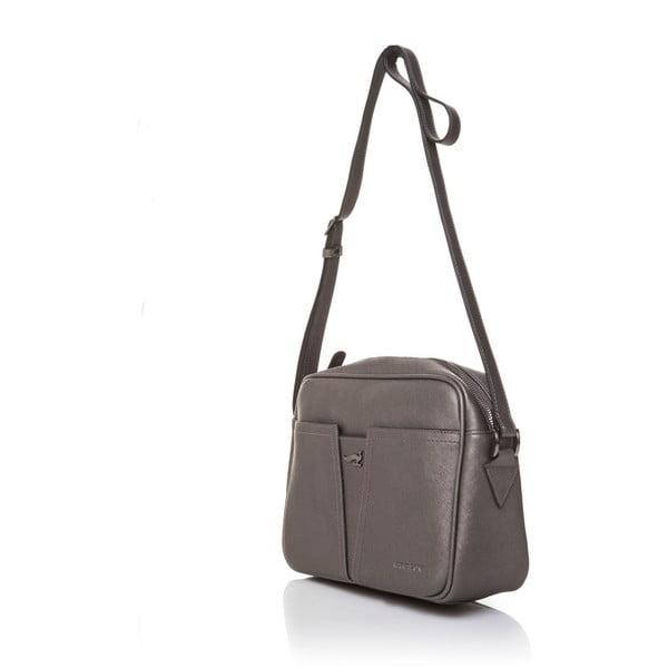 Kožená kabelka Marta Ponti Fusili Mini, šedá