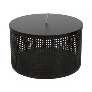 Černý úložný box OK Design Boite, Ø25,5cm
