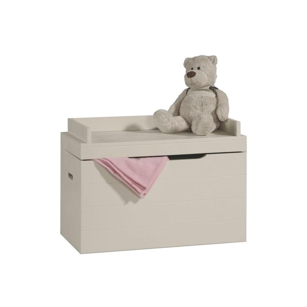 Krémový box na hračky z masivního borovicového dřeva Pinio Asiento