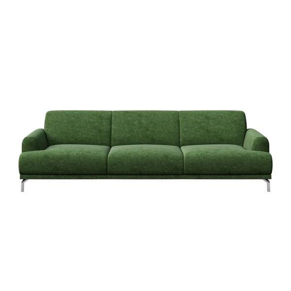 Canapea cu 3 locuri MESONICA Puzo, verde
