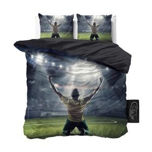 Lenjerie de pat din micropercal Sleeptime Football Champion, 240 x 220 cm