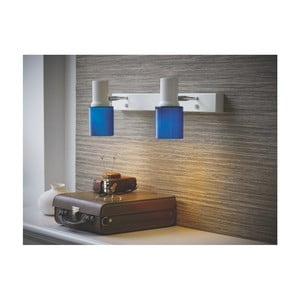Modré nástěnné svítidlo Herstal Orbit Duo Blue