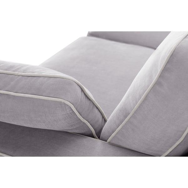 Třímístná pohovka Jalouse Maison Serena, světle šedá