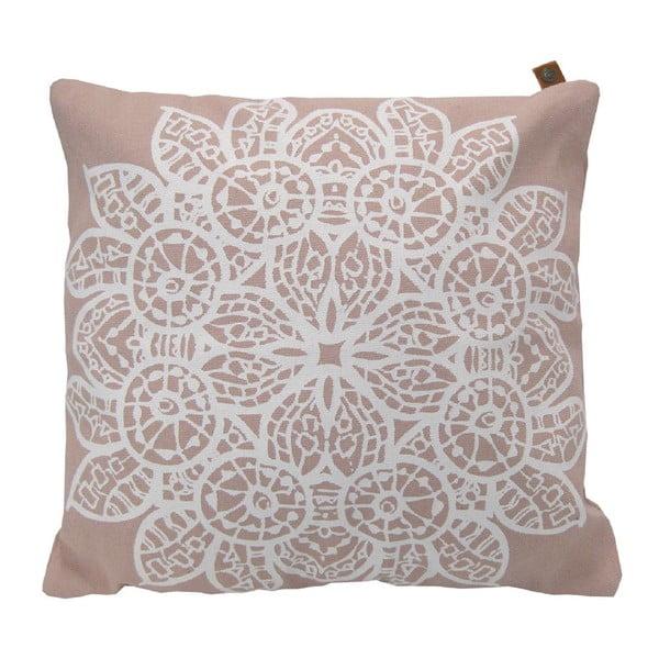 Polštář Overseas Lace Blush/White, 45x45 cm