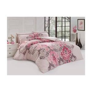 Lenjerie de pat cu cearșaf din bumbac Blossom, 200 x 220 cm