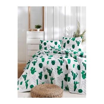 Set cuvertură de pat și față de pernă din bumbac Lura Parihno, 160 x 220 cm de la EnLora Home