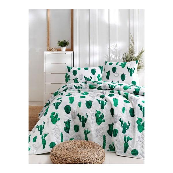 Set cuvertură de pat și față de pernă din bumbac Lura Parihno, 160 x 220 cm