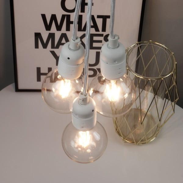 Bílé závěsné svítidlo se 3 kabely Bulb Attack Uno Group