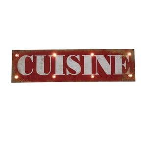 Svítící nápis Cuisine, 60x30 cm