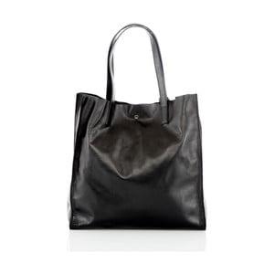 Černá kožená ručně vyrobená kabelka Glorious Black Enza