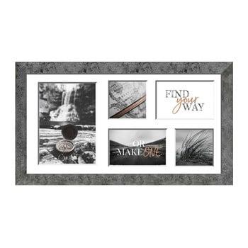 Ramă foto pentru 5 fotografii Styler Yellowstone, 27x51cm, gri de la Styler