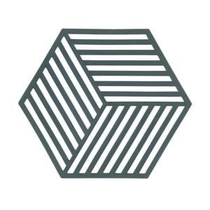 Šedozelená podložka pod horké nádoby ZONE Hexagon