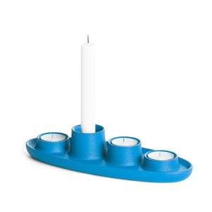 Modrý svícen EMKO Aye Aye Four Candles