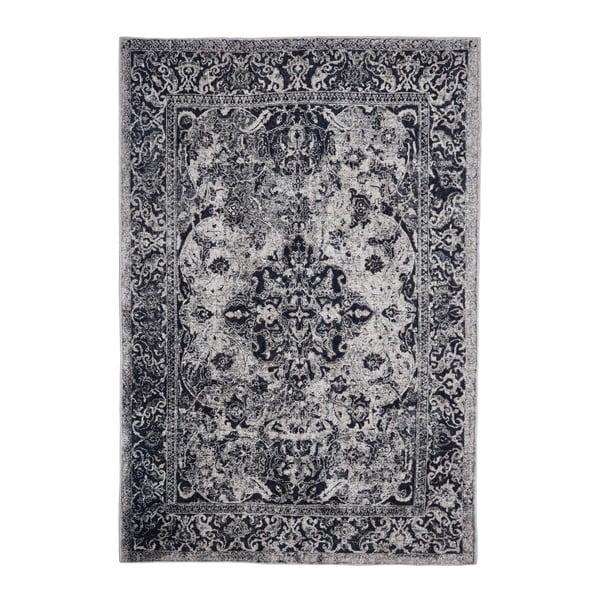 Tmavě šedý koberec odolný proti skvrnám Webtappeti Edessa, 80x150cm