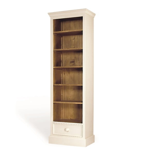 Knihovna s dvířky Antique Narrow White