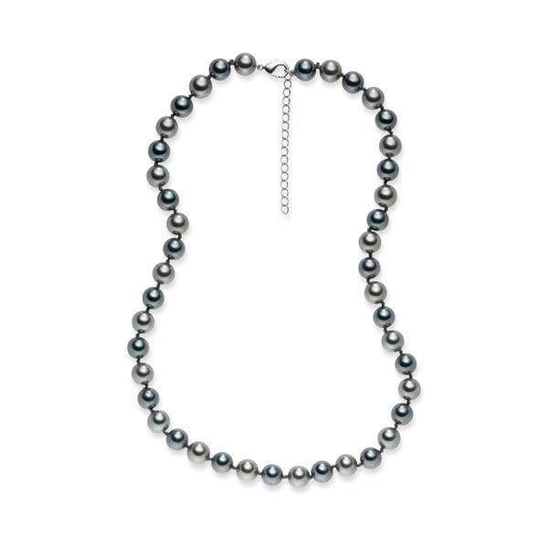 Perlový náhrdelník Pearls Of London Mystic Silver, 42cm