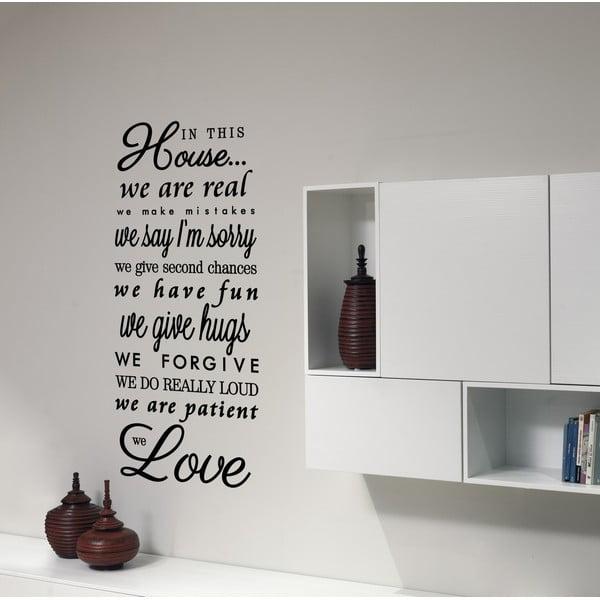 Dekorativní nástěnná samolepka We Love