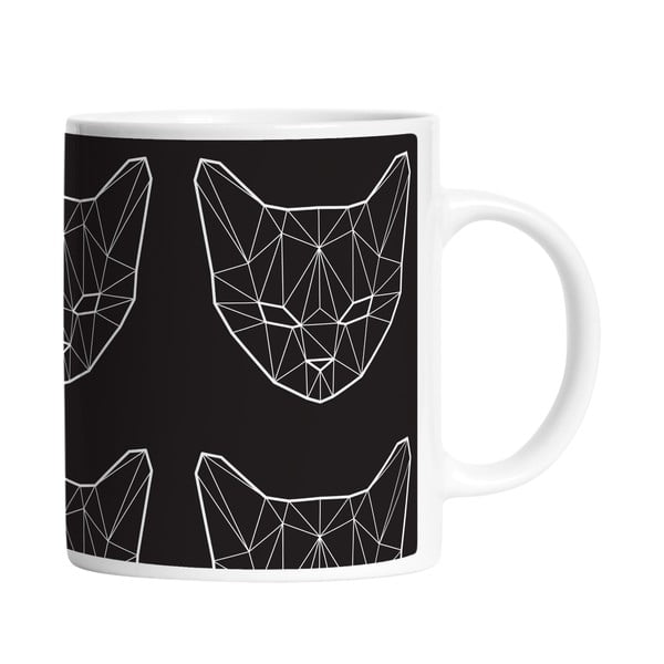 Hrnek Geometric Cat, 330 ml