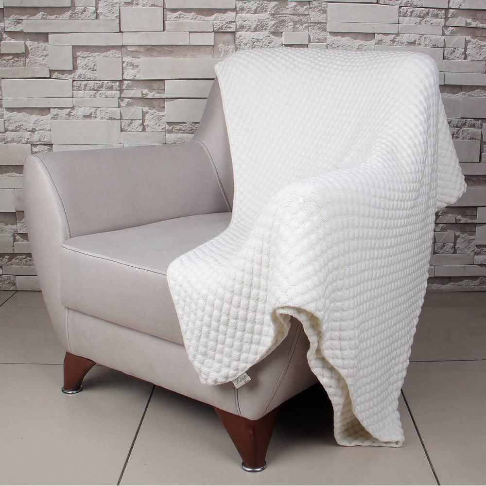 Světle béžová bavlněná deka Homemania Cola, 170 x 130 cm