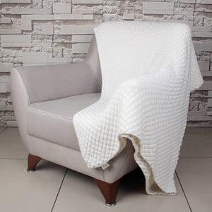 Světle béžová bavlněná deka Cola,170x130cm