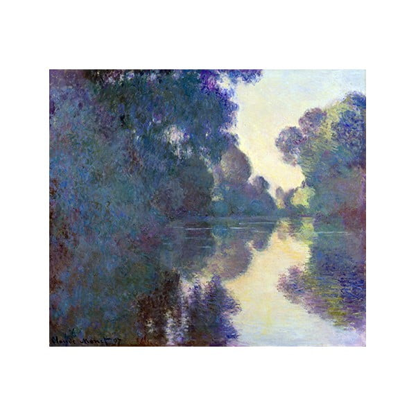 Obraz Claude Monet - Morning on the Seine near Giverny, 50x45 cm