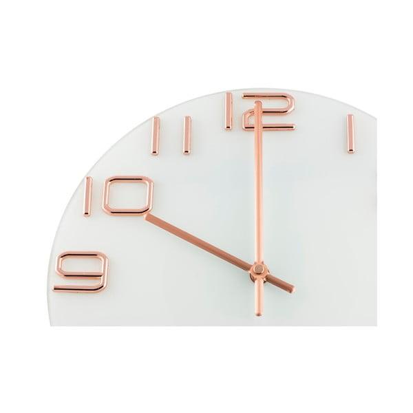 Hodiny Fisura Numbers Copper, 30 cm